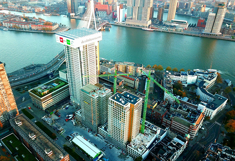 We are in the tallest building of Benelux with our solution partner WB Firepacks!